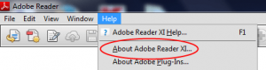 Identificare versiune Adobe Reader